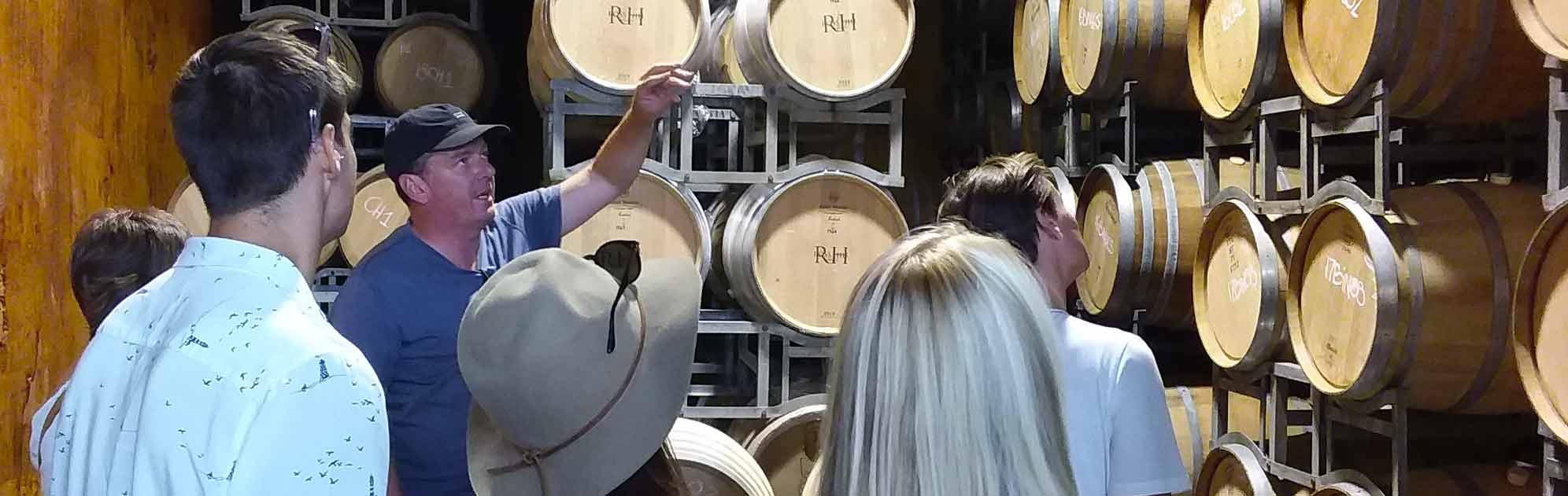 Wine tour barrels